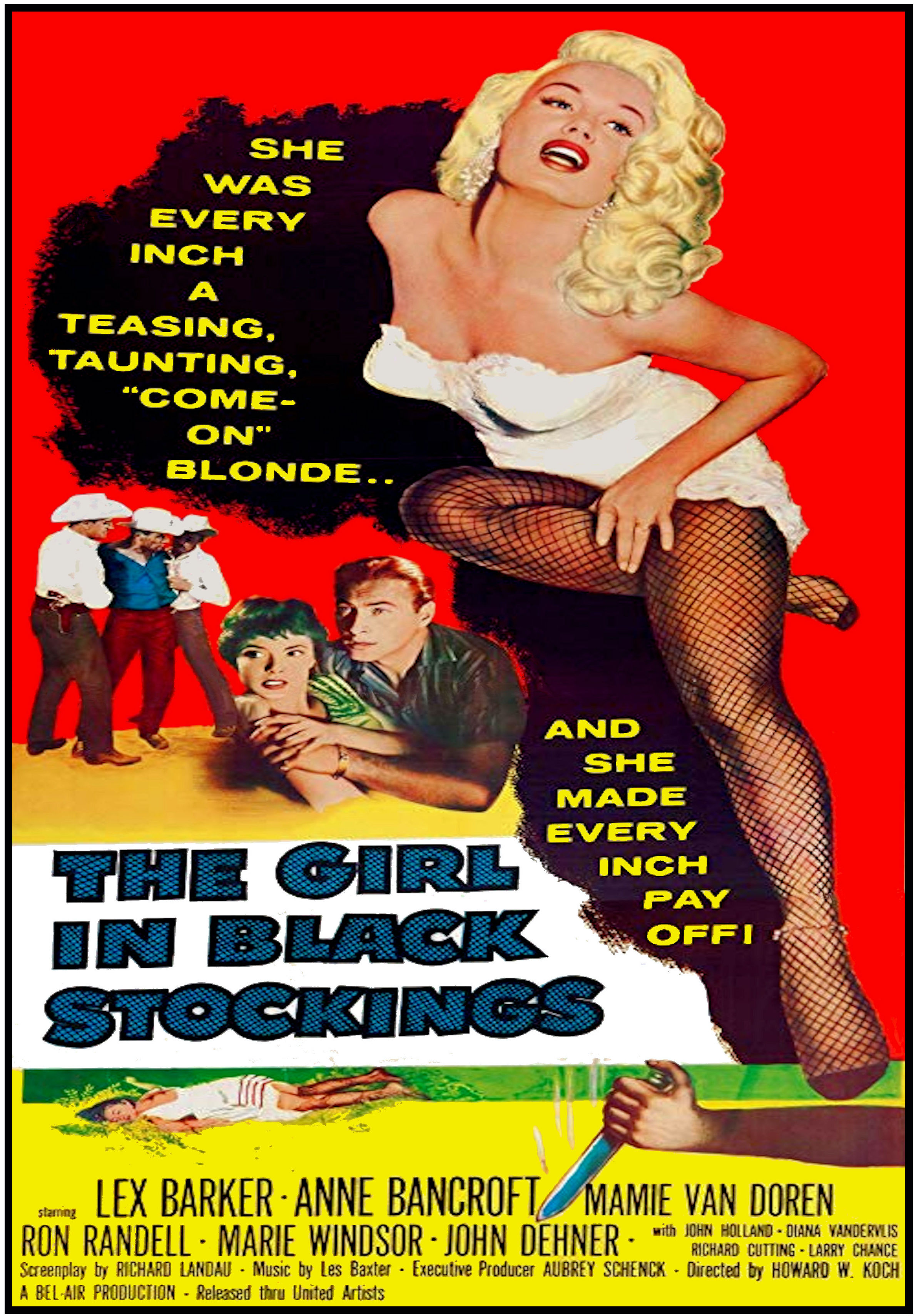 SassyFlix | The Girl in Black Stockings